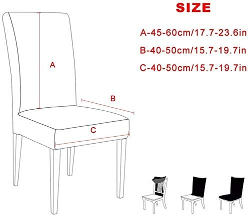 YMYP08 Furniture 1/2/4/6Pcs Stretch Slipcovers Chair Protection Covers For Dining Room Kitchen Wedding Banquet (Color : B7, Size : 4pcs)