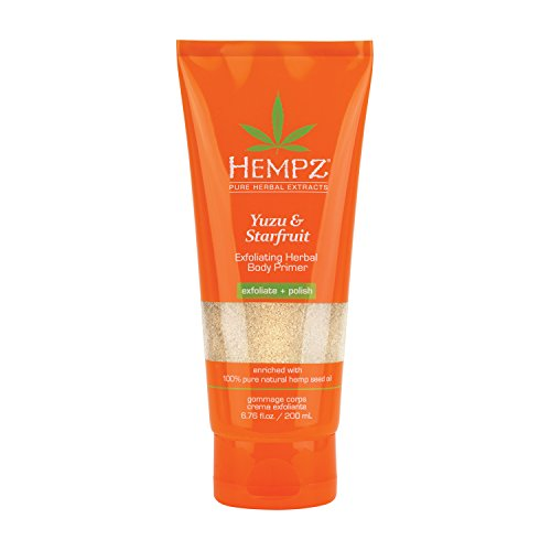 - Hempz Yuzu and Starfruit Exfoliating Herbal Body Primer, 6.76 Ounce