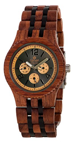 Tense Adventure Vernon Triple Dial Multifunction Two-Tone Jumbo Wood Watch J5203RD DL