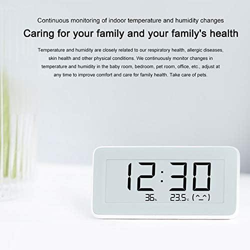 Wireless Smart Electric Uhr Digitalthermometer f/ür Innentemperatur Hygrometer E-Ink HD display Digital Thermo Hygrometer Chengjun Hygrometer Thermometer
