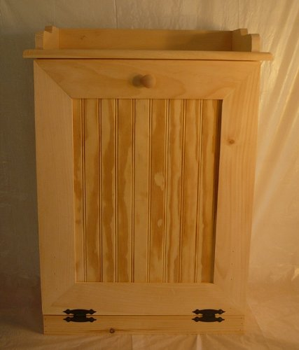 Kenzie's Kreations Handcrafted Wooden Trash Can, 13 Gallon ()