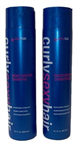 Curly Sexy Hair Moisturizing Shampoo & Condioner Set, 10.1 Ounce