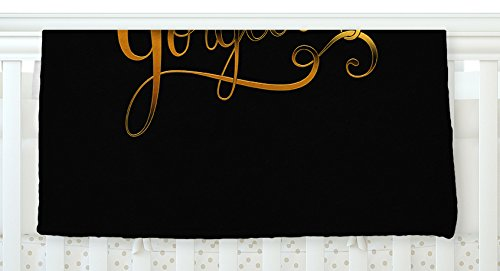 KESS InHouse Roberlan \'So Gorgeous\' Gold Black Fleece Baby Blanket, 40\' x 30\'