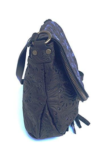 6c7259ac41 SUPERFLYBAGS Borsa Donna a Tracolla in vera pelle stampa Fiorata morbida  modello Mada M Fiorata Made