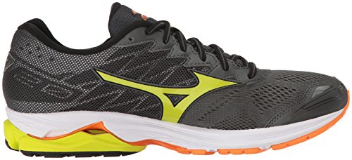 Mizuno Men's Wave Rider 20 Running Shoe Dark Shadow/Lime Punch/Vibrant Orange cheap sale release dates i51xvvn