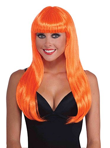Long Neon Wig With Bangs Wig Cher Wig Cheap Party Wig Rave Wig Asst Colors