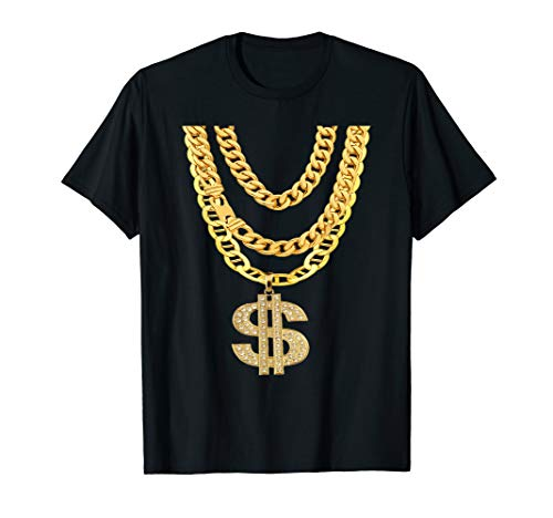 Gangster Chain Shirt | Cheap Hip-Hop Necklace Halloween Gift