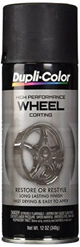 Dupli-Color HWP104 Black High Performance Wheel Paint - 12 oz.