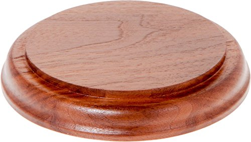 - Plymor Brand Solid Walnut Round Wood Display Base with Ogee Edge.75