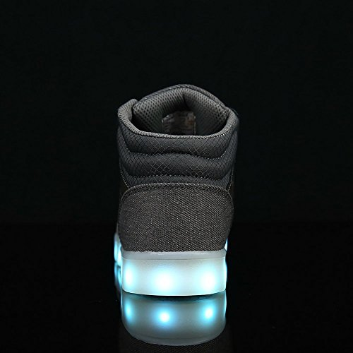 Gray Kids Light USB Up Boots Chargeable FLARUT Dancing High Shoes Led Boys Sneakers Top Lights Running Girls aBxwq4Y