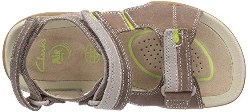 Clarks Mirlo Air Jnr - sandalias abiertas de cuero niño marrón - Braun (Brown Leather)