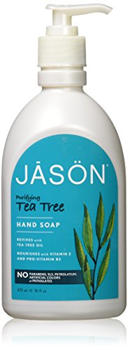 Jason Pure Natural Hand Soap - Purifying Tea Tree - 16 oz - 2 pk