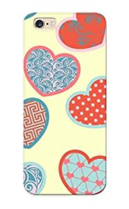 Design High Impact Dirt/shock Proof Case Cover For Iphone 6 Plus (patterned Hearts)