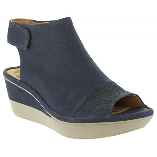 Clarks Womens Shoe Wynnmere Abie Navy