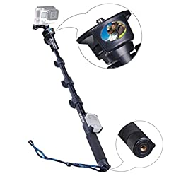 Smatree SmaPole Y1 Telescopic Pole for GoPro Hero 5/4/3+/3/2/1/Session (WiFi Remote Controller is NOT Included)