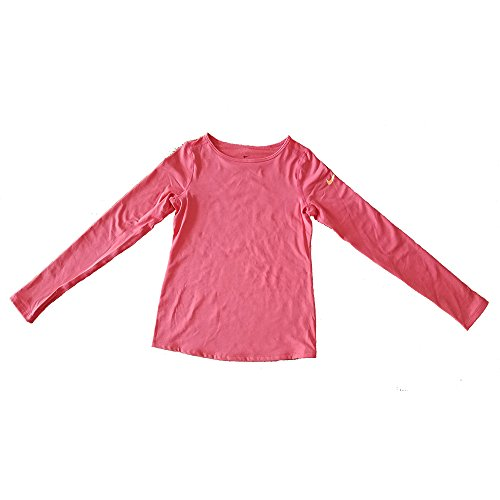 NIKE Girl's Dri-Fit Pro Warm Long Sleeve Training Shirt Orange 915369 850 (l) by NIKE