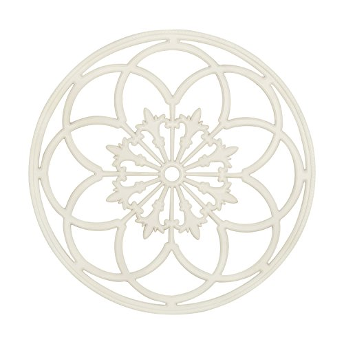Kate and Laurel Ondelette Round Medallion Wood Wall Art Plaque, 32 inch Diameter, White (Wood Medallion Wall Art)