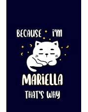 Mariella : Cute Cat Journal: Notebook With Name On Front Cover, 120 pages College Ruled Notebook Journal & Diary for Writing & Note Taking for Girls and Women (Cute Cat Personalized Notebooks For Girls And Women)