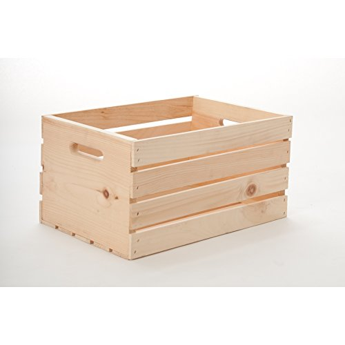 18 in. x 9.5 in. x 12.25 in. Pine Shoe Wood Crate
