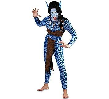 EUROCARNAVALES Disfraz de Guerrera Azul para Mujer: Amazon.es ...