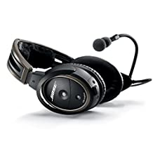 Bose A20 Aviation Headset with Standard Dual Plug Cable, Black