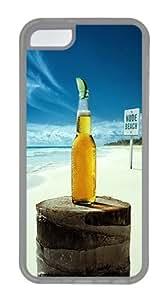 iPhone 5C Case & iPhone 5C cases Nude Beach Corona Custom TPU Case Cover Compatible with iPhone 5C - Transparent