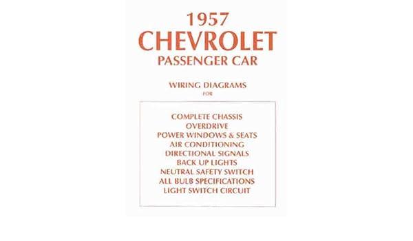 1957 Chevrolet Car Wiring Diagram Manual Reprint: Chevrolet ... on