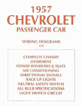 1957 chevrolet car wiring diagram manual reprint chevrolet amazon rh amazon com Chevy Neutral Safety Switch Installation Neutral Safety Switch Chevy Van 20