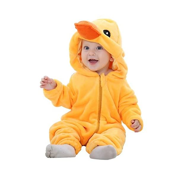 02e1293d5 IDGIRL Unisex-baby Winter Flannel Romper Outfits Suit - Funtober