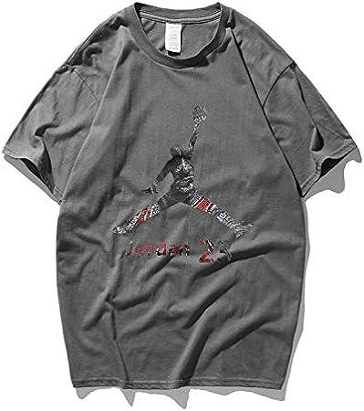 RENJUN Verano Cuello Redondo Manga Corta Bull 23 Fly Jordan Baloncesto Entrenamiento Camiseta Suelta Pareja Manga Corta Camiseta de Baloncesto (Color : Gray, Size : XS): Amazon.es: Hogar