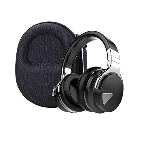 Aenllosi Hard Carrying Case for COWIN E7 Active Noise Cancelling Headphones Bluetooth Headphones (Black)