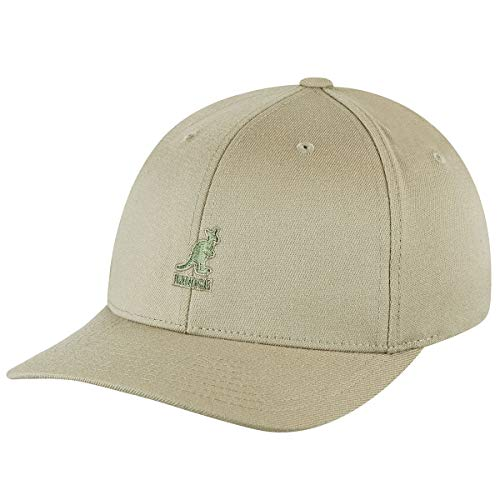 Kangol Sport Collection Men's Wool Flex-Fit Baseball Cap, Beige, L/XL