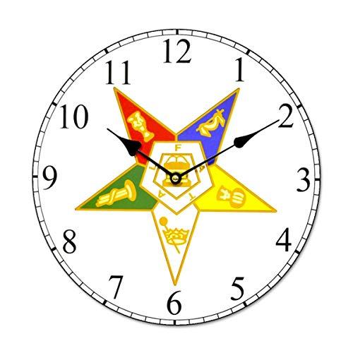 Order of The Eastern Star Masonic Wall Clock - 13 1/4