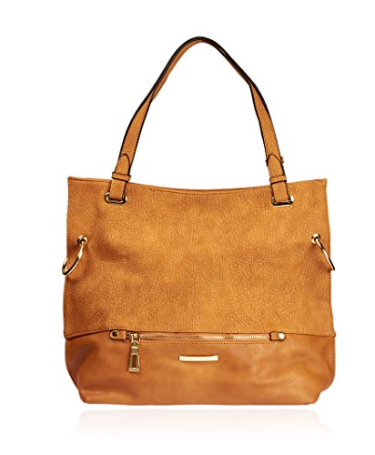 Camel Leather Tote Bag - 9