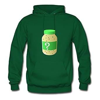 Unofficial Food Secret Sauce Hoodies Chic Designed Green Cotton X-large Women Custom