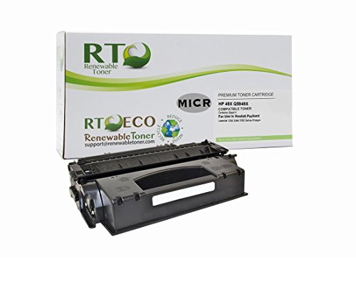 Renewable Toner Q5949X Compatible MICR Cartridge Replacement for HP 49X HP Q5949X for LaserJet 1320 3390 3392 Series (Laserjet 3390 Series)