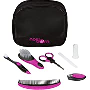Baby Grooming Kit - 7 Piece Set for Infants with Carry Bag (Purple)