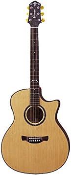 Crafter gae-698CD Guitarra Electroacústica con Cutaway Guitarra con estuche rígido