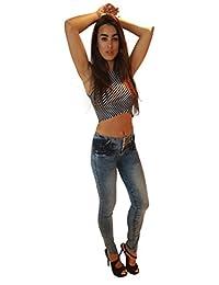 Celeste Jeans - Pantalon Str. pretina ancha cierre parte trasera