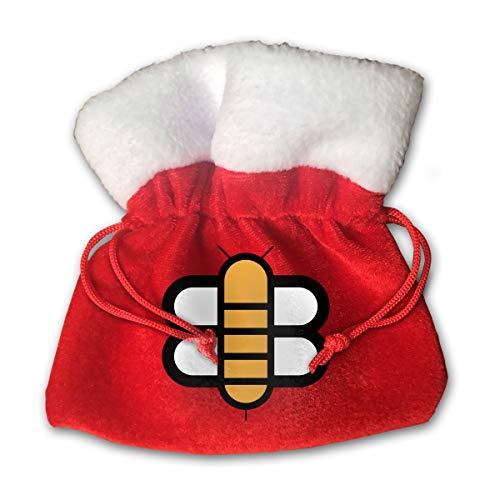 Sfgggerrd The Babylon Bee Reusable Kids Christmas Drawstring Pouches Candy Jewelry Gift Bag Santa Present
