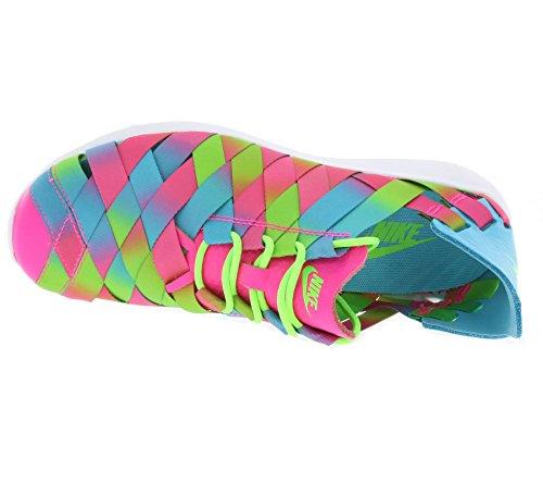 Nike W Juvenate Woven Prm, Zapatillas de Deporte para Mujer Azul (Gamma Blue / Pnk Blst-Elctrc Grn)