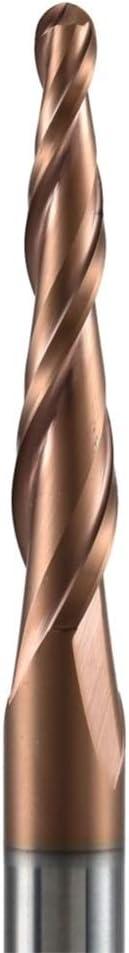 1pc carbure de tungst/ène HRc62 fusel/é broyeur /à boulets Fin Nez m/èches de toupie de Sculpture CNC de Gravure Fraise for Bois et m/étal Size : R0.5 47 100 D8 NO LOGO HWW-QTD