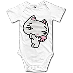 Funny Vintage Unisex Cute Cat Climb Clothes Romper Nursling