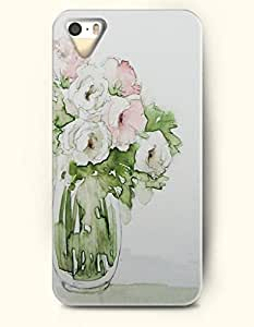 OOFIT Phone Case For Iphone 6 4.7Inch Cover -- Rose In Bottle -- Oil Painting