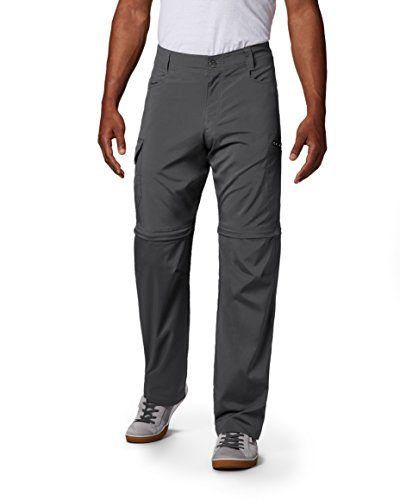 Columbia Backcountry Convertible Pant - Columbia Men's Silver Ridge Stretch Convertible Pants, Grill, 34 x 32