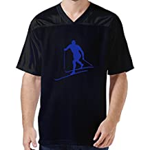 LFD Men's Cross Country Skiing American Football Jerseys Black