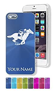 iPhone 5/5S Case/Cover - HORSE RACING, JOCKEY - Personalized for FREE (Send us an Amazon email after purchase with your engraving request)