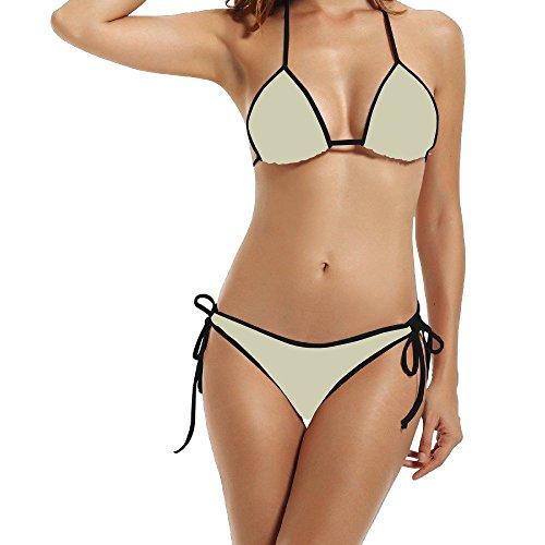 Burberry 2 Piece (Hotgirl4 Women Grey Yellow Bikini Black Size One Size)