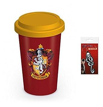 Set: Harry Potter, Gryffindor, Blasón Taza De Viaje (15x10 ...