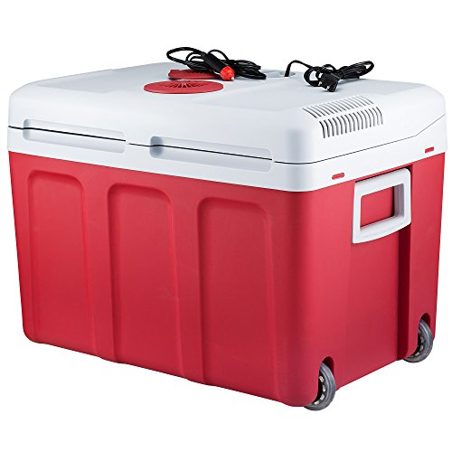 Knox 48 Quart Electric Cooler/Warmer with Built in Car and Home Plug (Red)